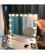 FENCHILIN Large Vanity Mirror with Lights and Blutooth Speaker, Hollywoo... - $140.99