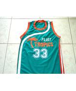 #33 Jackie Moon Mens Flint Tropics Teal Green Basketball Jersey (Mesh) Semi-Pro - $29.99