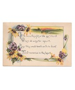 Kathryn Elliott Motto Postcard Pansys Black Eyed Susans 1916 Arts and Cr... - $5.69