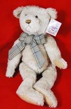"Bearington Collection 18"" BOBBY 1215 BEAR PLUSH - Plaid Bow Tie - $39.10"