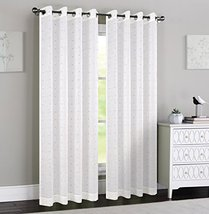 Urbanest 54-inch by 84-inch Madeline Set of 2 Sheer Curtain Panels with Grommets - $27.71
