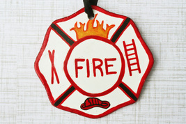 Personalized Firefighter Badge Ornament, Gift for Fireman, Fireman Ornament - $12.99
