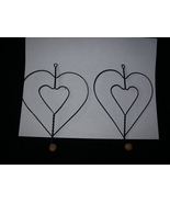 2 Heart Shaped Wall Hooks - $12.00