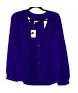 Womens Dizzy Lissy Semi-Sheer Blouse Size Large Peek-A-Boo Back Mint wit... - $7.95
