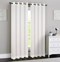 Urbanest 54-inch by 96-inch Madeline Set of 2 Sheer Curtain Panels with ... - $29.69