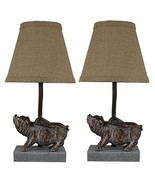 Urbanest Set of 2 Flying Pig Mini Accent Lamps with Shades - $82.16