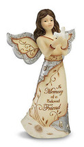ELEMENTS IN MEMORY OF BELOVED FRIEND ANGEL HOLDING DOVE IN MEMORY OF FRI... - $21.99