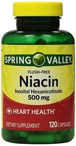 Spring Valley - Flush Free Niacin (B-3) 500 mg, 240 Capsules (2 Bottles ... - $27.69