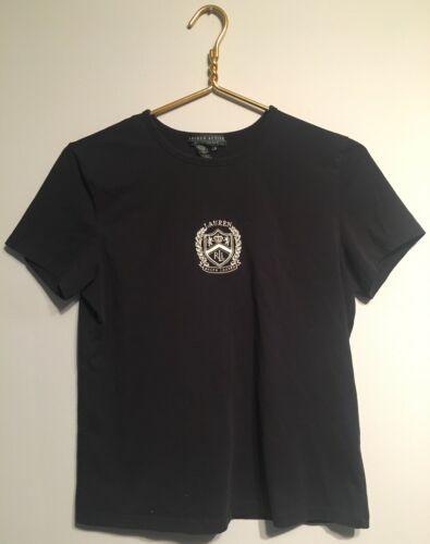 Womens Ralph Lauren Active Shirt Meduim Black Tee