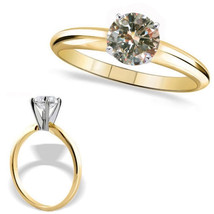 0.5 Ct TCW Diamond 14K Yellow Gold Solitaire Bridal Engagement Anniversa... - £278.80 GBP