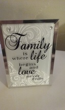Mirror Frame Beveled Edge Family Quote Inspirational Saying Plaque New W... - €3,66 EUR