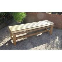 Red Wood Bench Garden Chair Out Door Wooden Park Seat Patio Furniture De... - $162.26