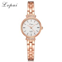 Lvpai® Women Fashion Luxury Watch Rose Gold Silver Ladies Bracelet Casua... - $4.96