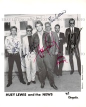 HUEY LEWIS AND THE NEWS AUTOGRAPHED 8x10 RP PHOTO GREAT CLASSIC ROCK - $13.36