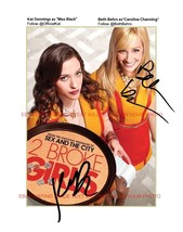 An item in the Entertainment Memorabilia category: 2 BROKE GIRLS CAST AUTOGRAPHED 8x10 RP PROMO PHOTO KAT DENNINGS BETH BEHRS TWO