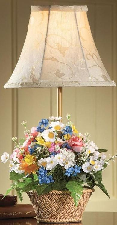 Floral Basket Desk And Table Lamp