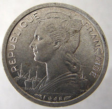 1948 FRANCE REUNION ISLANDS Reunion French 1 Franc Winged Liberty coin - $14.99