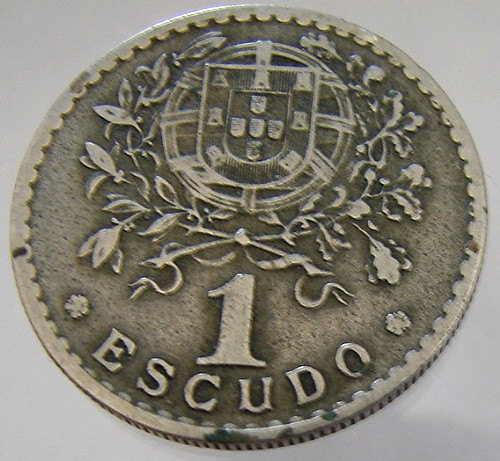1929 PORTUGAL VINTAGE COIN over 80 years old 1 Escudo Copper Nickel coin