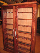 Pipe rack cabinet Pipe Cabinet Rack Case 32 Pip... - $299.99