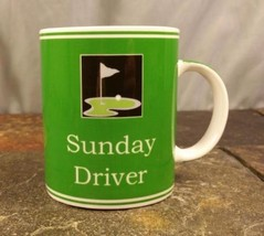 Ganz Golf Sunday Driver Green Golfer Coffee Mug Tea Cup Dad Grandpa Fath... - $13.81
