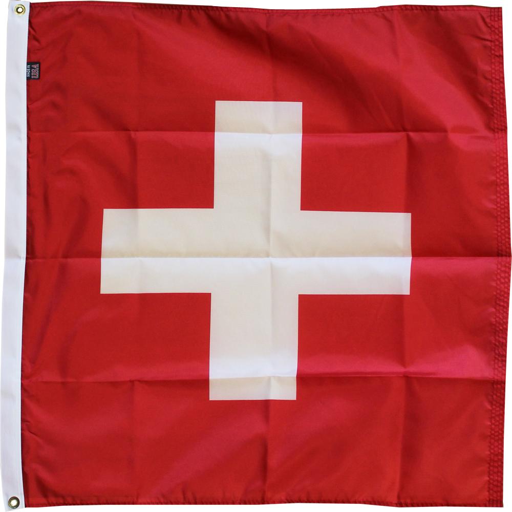Switzerland - 4'X4' Nylon Flag