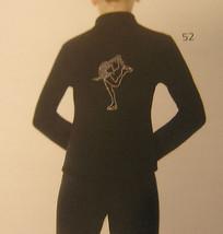 Mondor Model 24482 Polartec Rhinestone GIrls Skating Jacket Black Size 6X-7 - $75.00