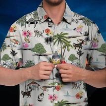 Unisex 3D Hawaiian Shirt Unisex Cat Beach Hawaiian Shirt - £28.96 GBP