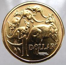 ASTRALIA KANGAROOS COIN Vintage 1985 One Dollar Copper Aluminum Coin - $14.99