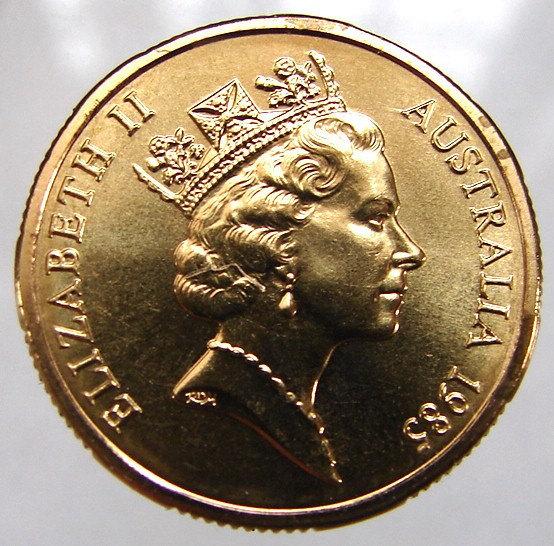ASTRALIA KANGAROOS COIN Vintage 1985 One Dollar Copper Aluminum Coin