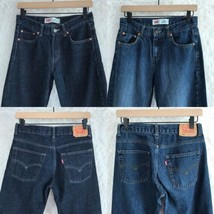 Levis 550 Relaxed Fit Straight Leg Jeans Dark Wash Lot 2 Youth Boys 14R 27x27  - $29.69