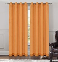 Urbanest 54-inch by 63-inch Tweed Set of 2 Sheer Drapery Curtain Panels with Gro image 1