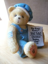 "Cherished Teddies 1995 ""Cub E. Bear"" Charter Member Figurine - $18.00"