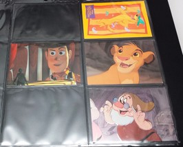 Disney Trading Card Inserts Lot of 4 Lion King F1 Snow White F3 Toy Stor... - $7.43