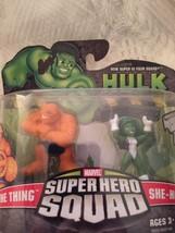 NEW 2008 Marvel Super Hero Squad Figure 2 Pack She-Hulk The Thing Fantas... - $24.23