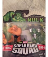 NEW 2008 Marvel Super Hero Squad Figure 2 Pack She-Hulk The Thing Fantas... - $24.23