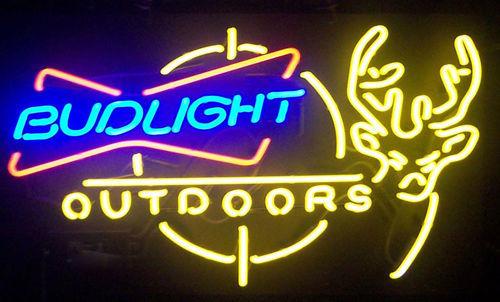 """New Bud Light Outdoors Deer Beer Budweiser Neon Sign 24""""x20"""" Ship From USA"""