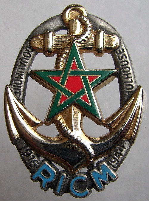FRANCE MILITARY BROOCH regiment of infantry tank diving Enamel Badge Brooch Pin