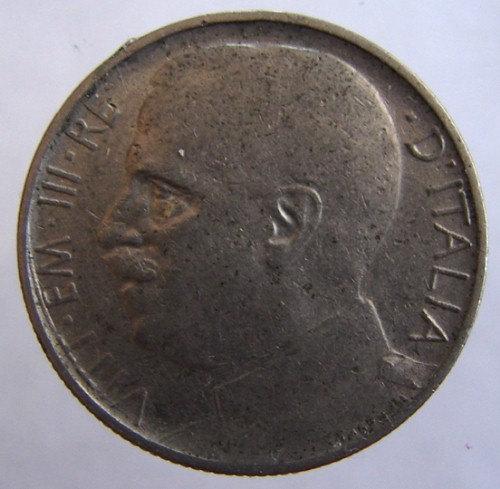 1920 ITALIAN COIN Over 90 Years Old Italy Aeqvitas Lions 50 Centesimo Chromo Nic