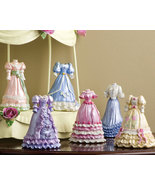 Hand Painted Victorian Dress Collectibles - $20.75