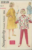 1950s vintage Simplicity 2319 size 8 chest 26 waist 23 hip 28 Girls paja... - $2.00