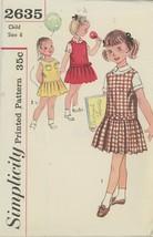 Vintage 1950s Girls Dress Patterns - Girls Jumper, Dress, Blouse  Sz 6 U... - $2.00