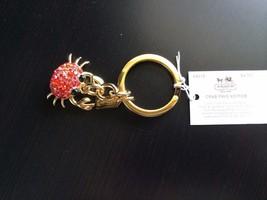NWT Coach Red Swarovski Crystals Rhinestone Crab Key Fob Keychain Charm ... - $99.99