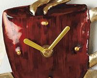 "Magnetic Coffee Mug Kitchen Clock 5.5"""
