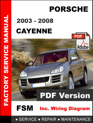 PORSCHE CAYENNE 2003 - 2008 FACTORY OEM SERVICE REPAIR WORKSHOP SHOP FSM MANUAL