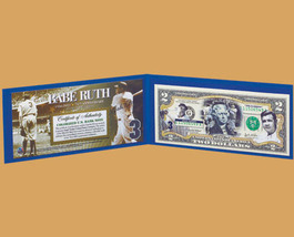 Babe Ruth American Legends $2 Bill  Uncirculated - $39.95