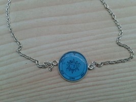 2nd Pentacle of Jupiter bracelet. For acquiring glory, honors, riches. Hexagram  - $19.99