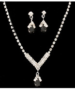Bridal/Prom Rhinestone Necklace & Earring Set - $15.99