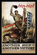 Hip-hip! Another ship - another victory by George Hand Wright - Art Print - $19.99+
