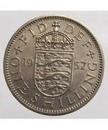 Vintage over 50 years old 1957 BRITISH Elizabeth II One Shilling Copper ... - €4,50 EUR