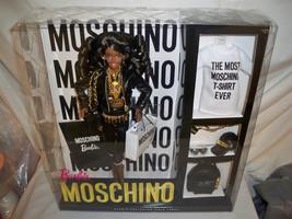 Moschino Barbie Doll African American NRFB SOLD OUT! #DNJ32 Mattel 2015 ... - $450.00